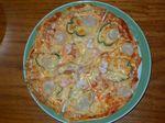 ホタテと甘海老のピザ